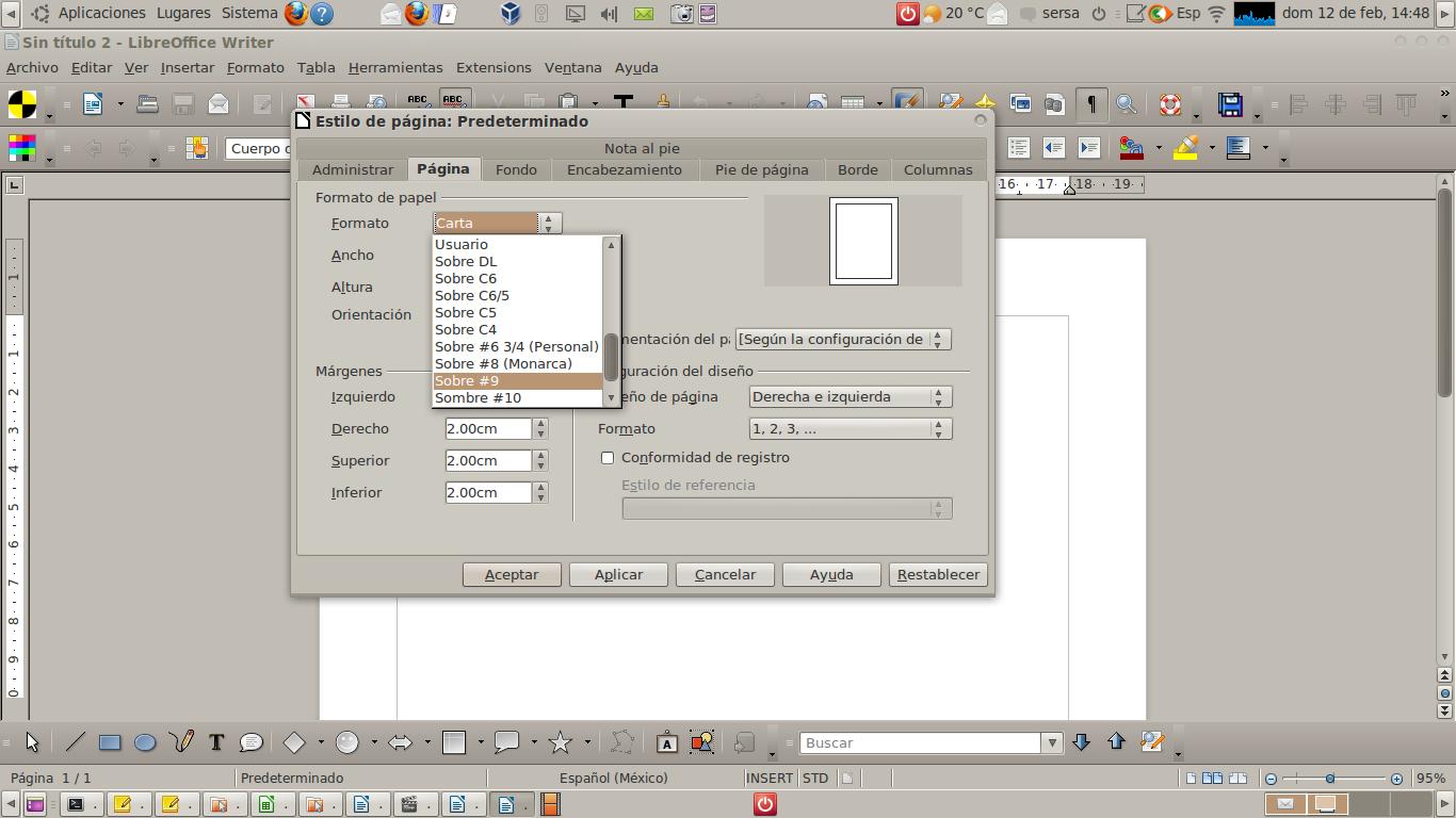 Impresión en serie con LibreOffice